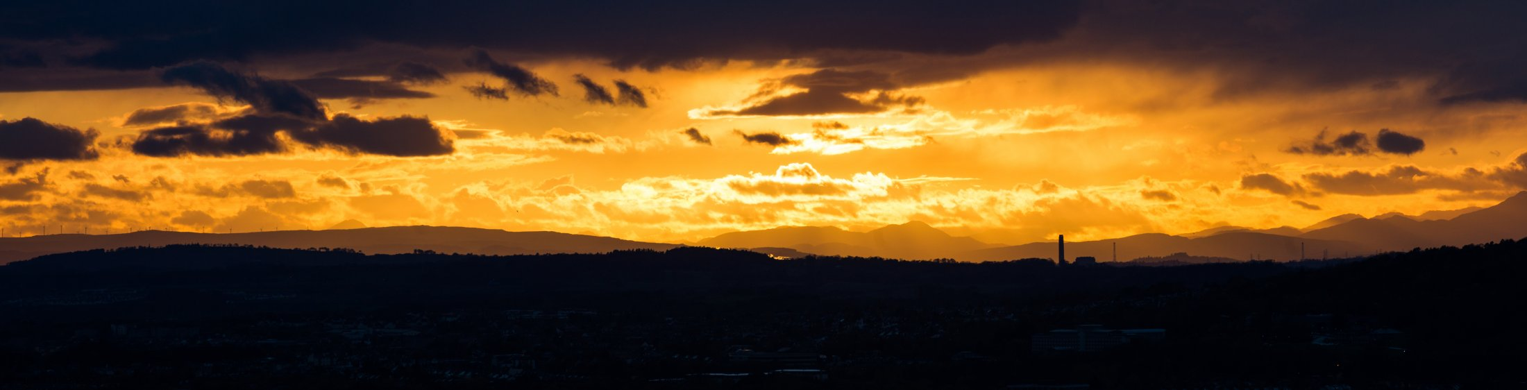Sunset from Blackford Hill